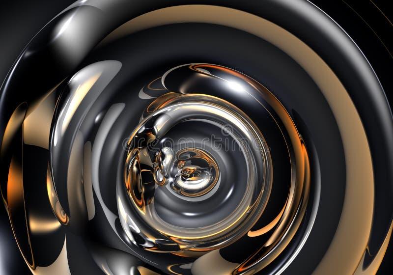 Tubo abstracto del metall stock de ilustración