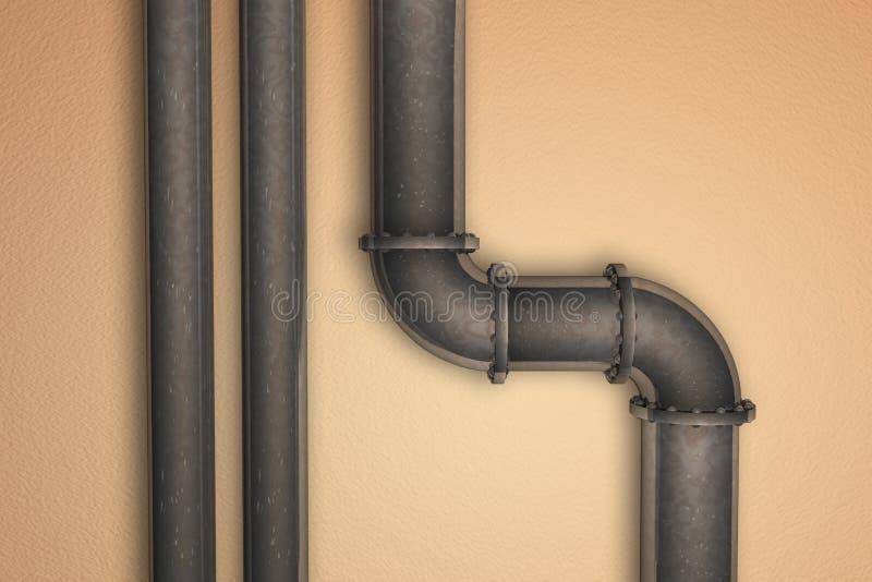 Tubo arrugginito illustrazione vettoriale
