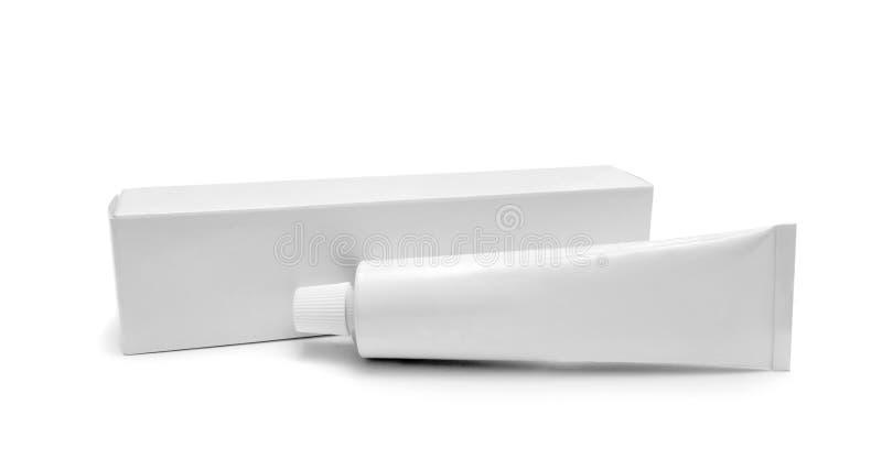 Tubo blanco foto de archivo libre de regalías