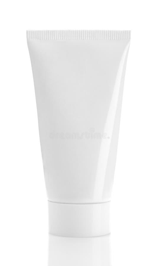 Tubo blanco en blanco fotografía de archivo libre de regalías