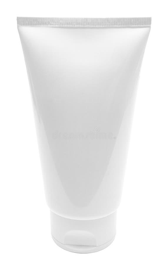 Tubo blanco en blanco derecho con el camino imagen de archivo