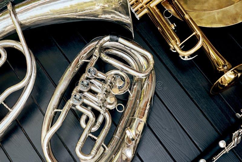 Tubo, clarinete, tenor, placa imagen de archivo