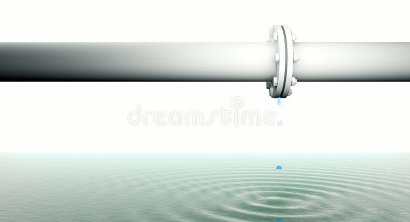 Tubo colante illustrazione di stock
