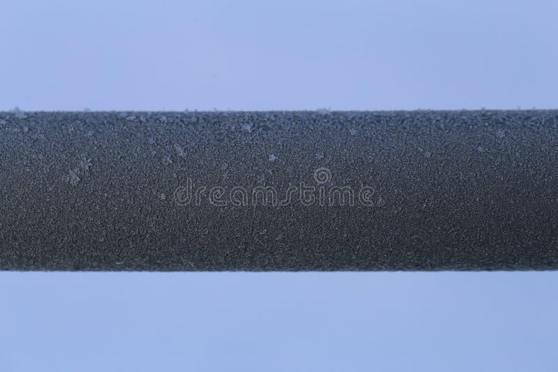 Tubo colorato d'argento congelato del metallo fotografia stock libera da diritti