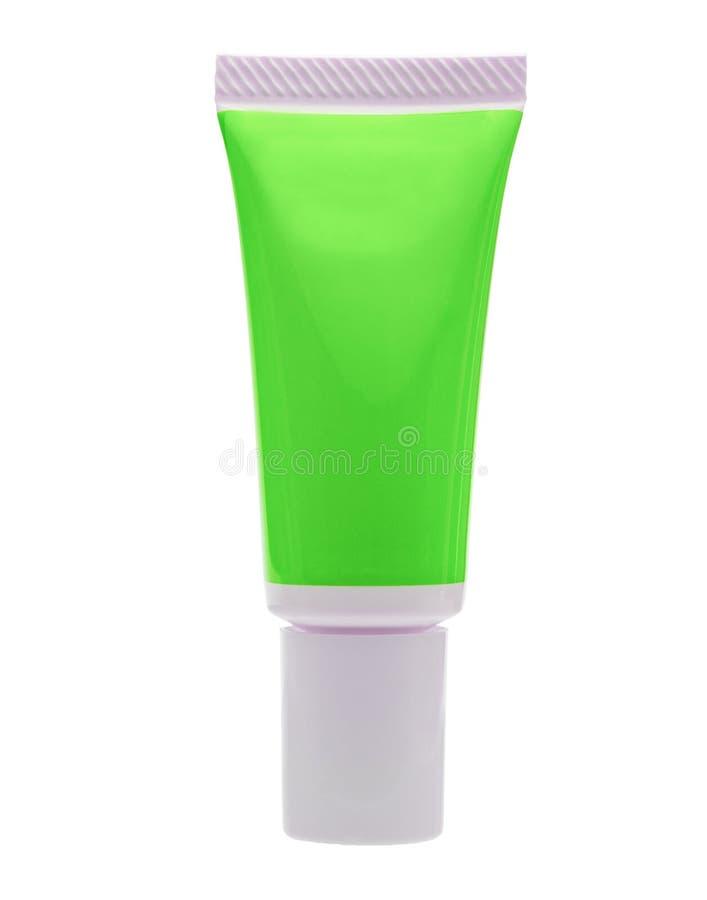 Tubo cosmatic verde isolato immagine stock