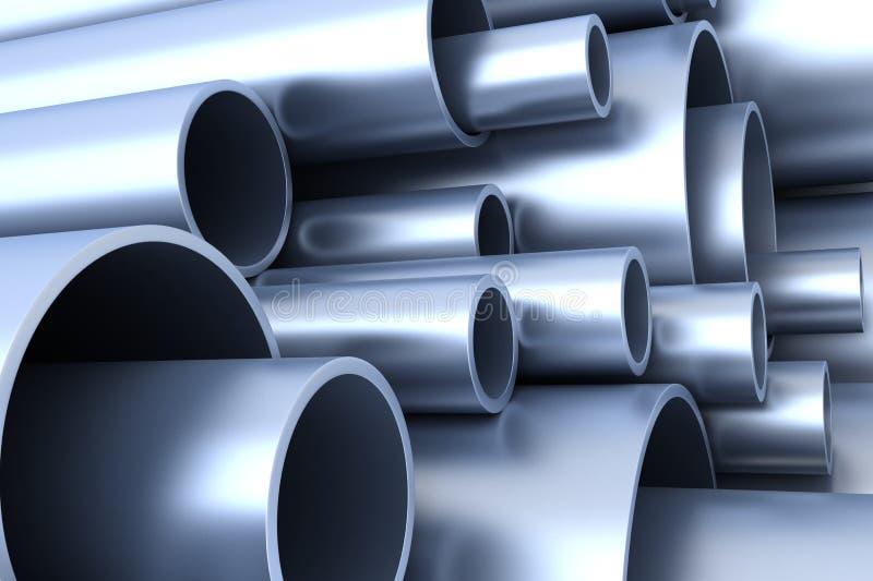 Tubo d'acciaio illustrazione di stock