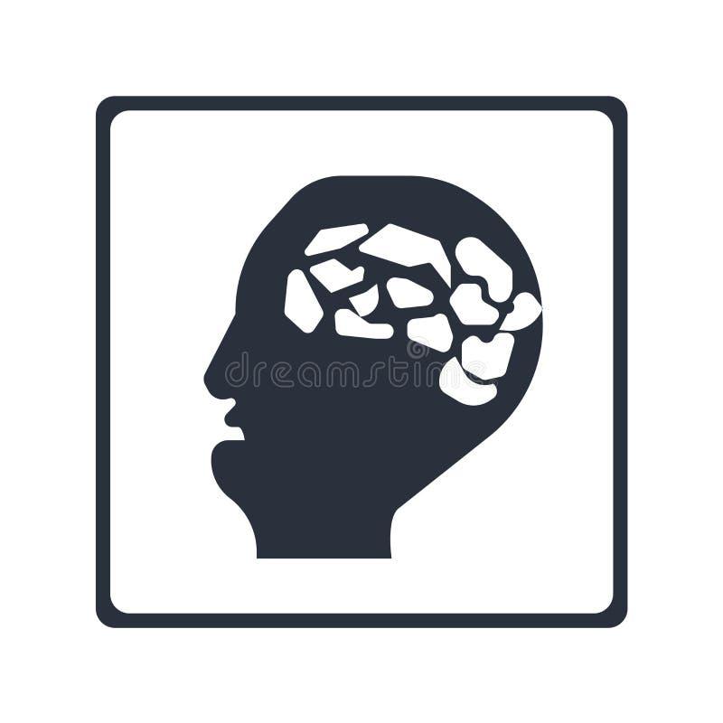 Tubo da boca no sinal e no símbolo principais masculinos calvos do vetor do ícone isolado no fundo branco, tubo da boca no concei ilustração do vetor