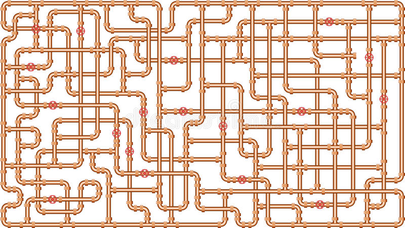 Tubo de agua stock de ilustración
