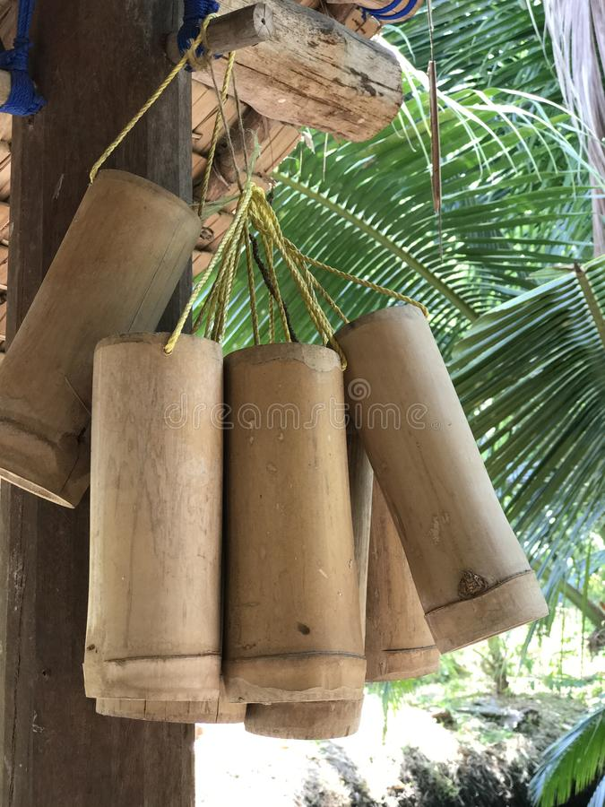 Tubo de bambu imagem de stock