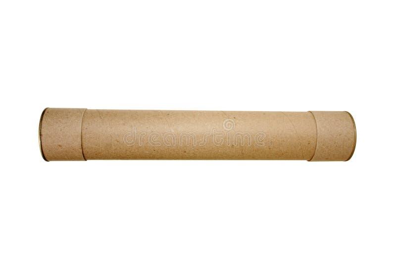 Tubo de cartulina foto de archivo libre de regalías
