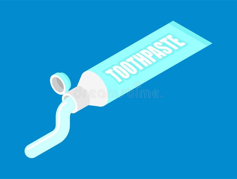 Tubo de dentífrico isométrico Estilo dos desenhos animados da ilustração do vetor ilustração do vetor