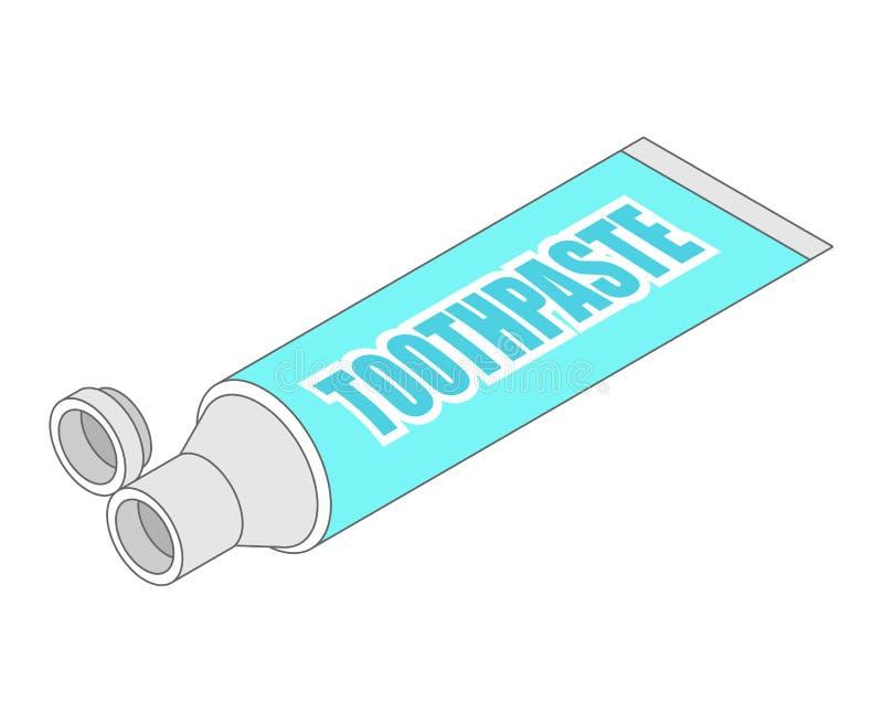 Tubo de dent?frico isom?trico Estilo dos desenhos animados da ilustra??o do vetor ilustração do vetor