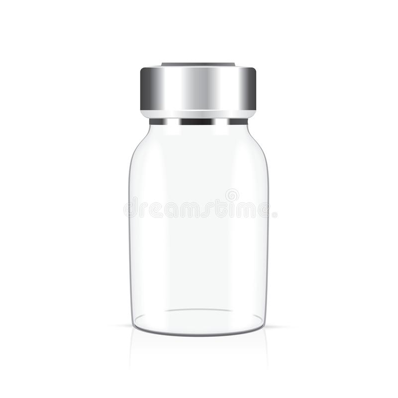 Tubo de ensaio médico de vidro ilustração stock