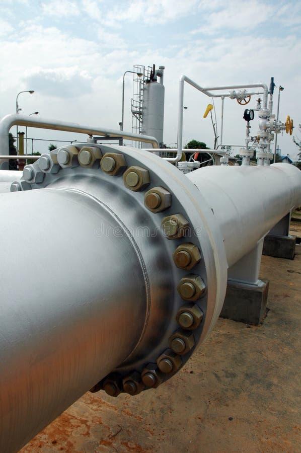 Tubo de gas grande foto de archivo libre de regalías