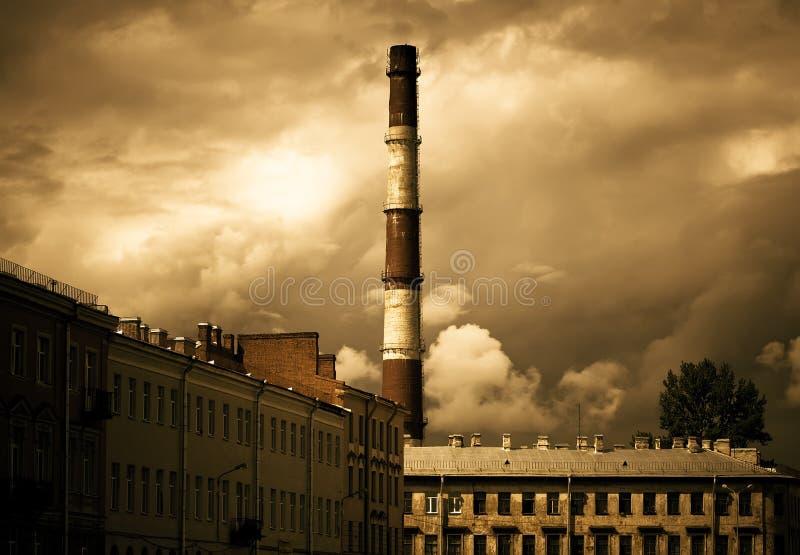 Tubo de la fábrica imagen de archivo libre de regalías