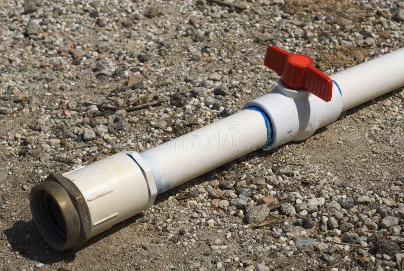 Tubo de la irrigación del PVC fotos de archivo libres de regalías