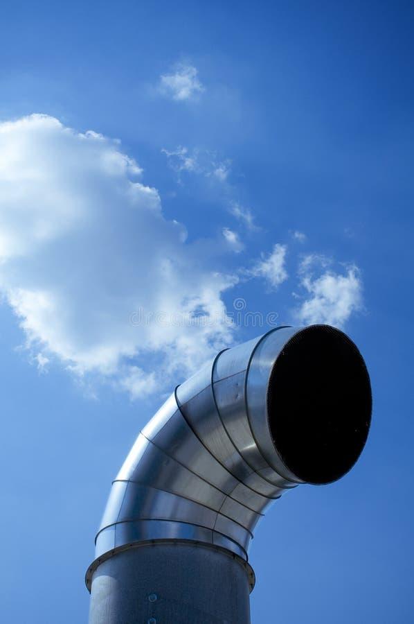 Tubo de la ventilación foto de archivo