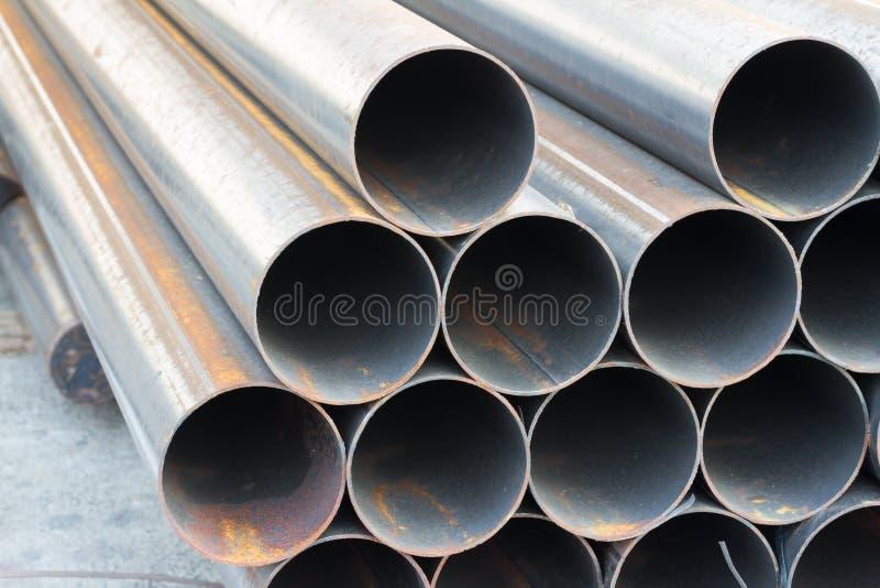 Tubo del acciaio al carbonio fotografia stock libera da diritti
