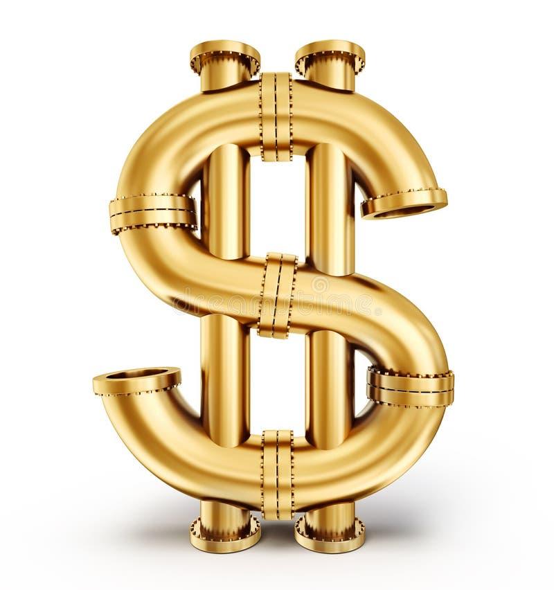Tubo del dollaro illustrazione vettoriale
