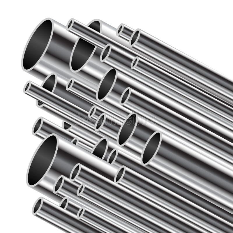 Tubo del metallo. illustrazione vettoriale