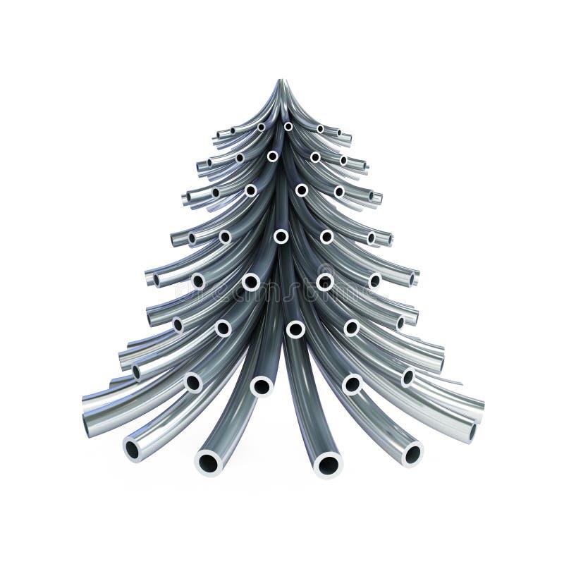 Tubo del metallo dell'albero di Natale illustrazione di stock