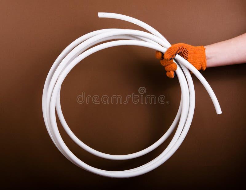Tubo dell'impianto idraulico immagini stock