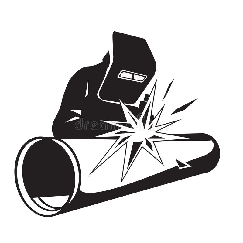 Tubo della saldatura del saldatore illustrazione vettoriale