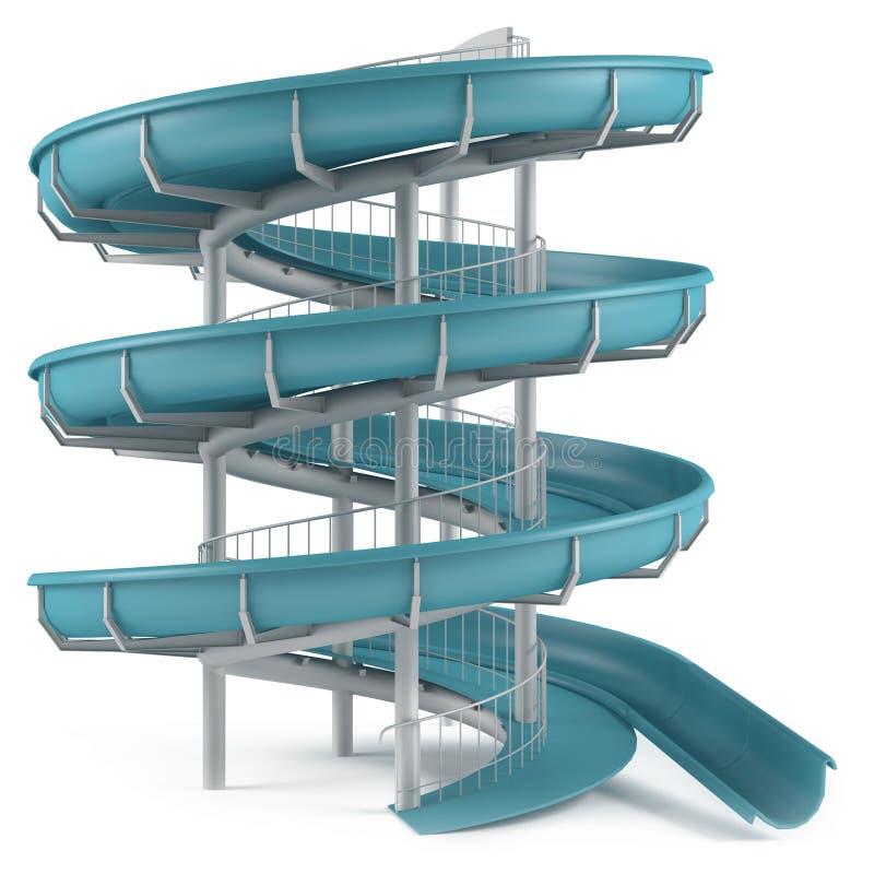 Tubo dello scorrevole di Aquapark isolato royalty illustrazione gratis