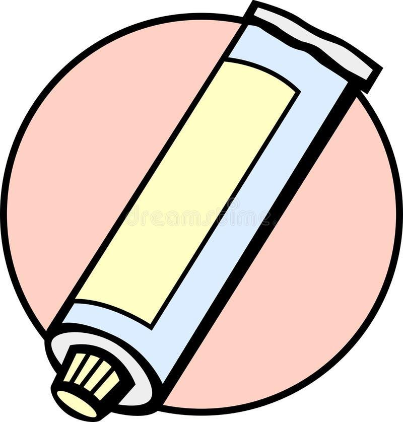 Tubo di dentifricio in pasta illustrazione vettoriale
