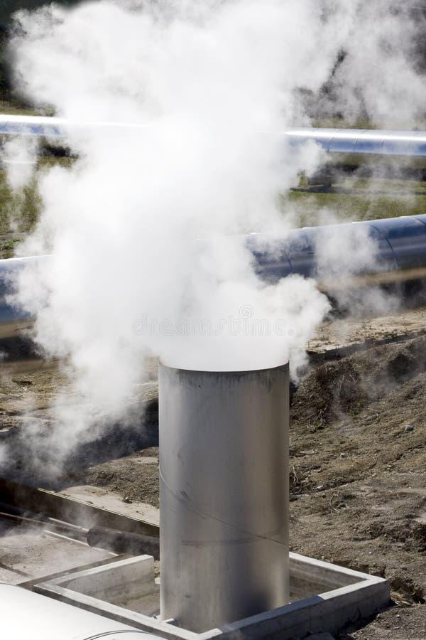 Tubo di Exhuast con vapore immagini stock