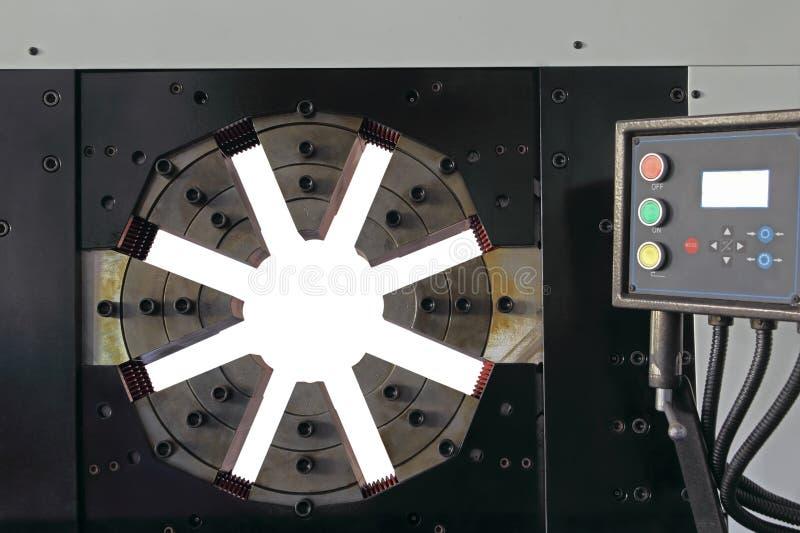 Tubo di gomma idraulico che unisce dettaglio a macchina fotografia stock libera da diritti