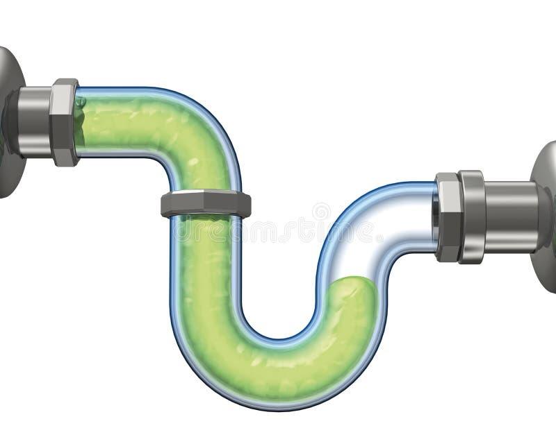 Tubo di scarico dell'acqua royalty illustrazione gratis