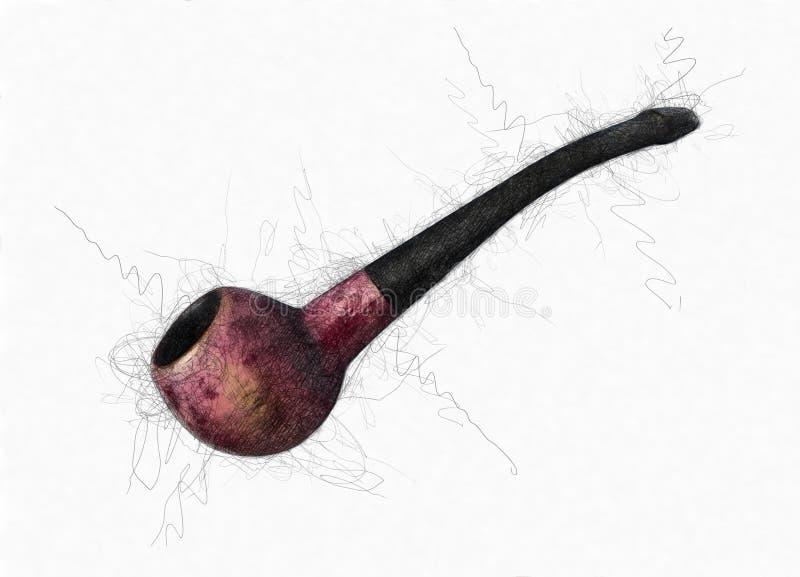 Tubo di tabacco illustrazione di stock