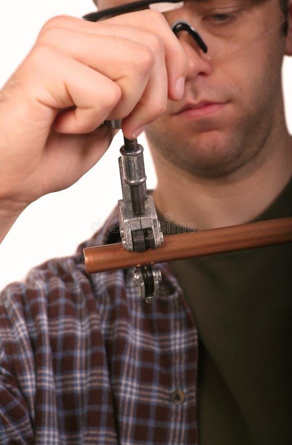 Tubo di taglio dell'idraulico immagine stock libera da diritti