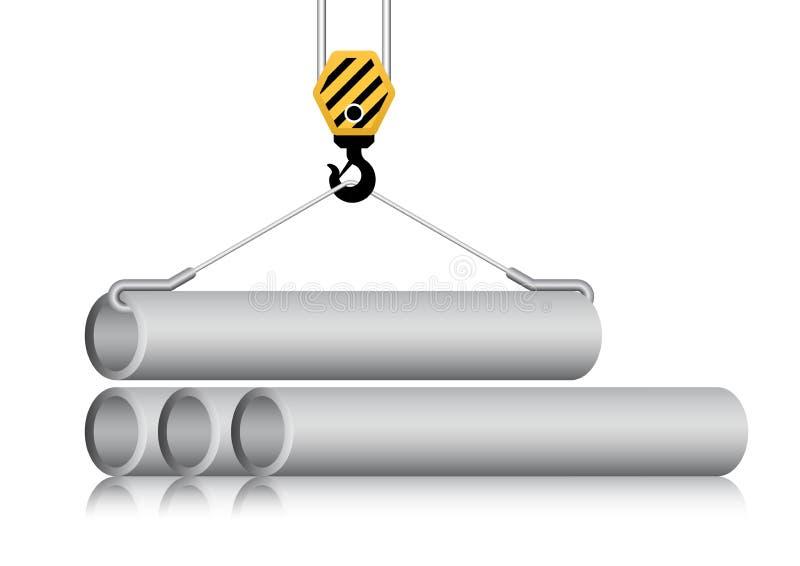 Tubo e gancio illustrazione vettoriale