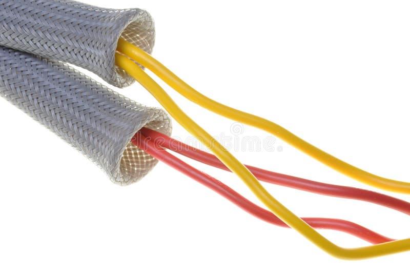 Tubo flexível com cabos foto de stock