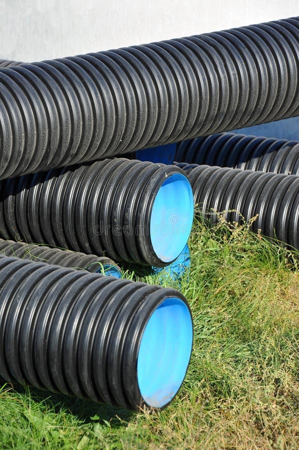 Tubo impilato del PVC immagine stock