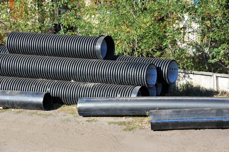 Tubo impilato del PVC fotografia stock libera da diritti