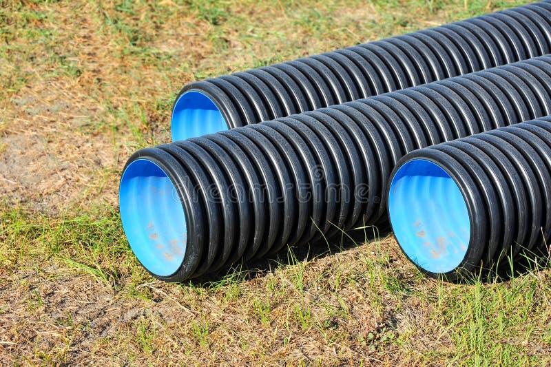 Tubo impilato del PVC immagine stock libera da diritti