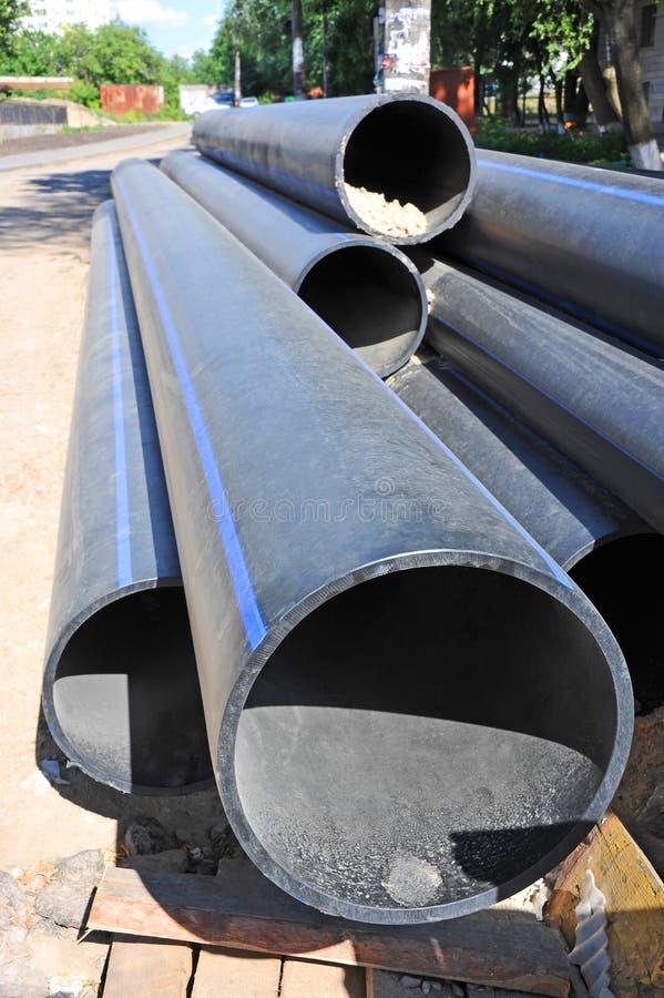 Tubo impilato del PVC fotografie stock