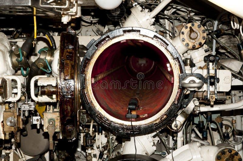 Tubo lanciasiluri di sottomarino fotografia stock libera da diritti