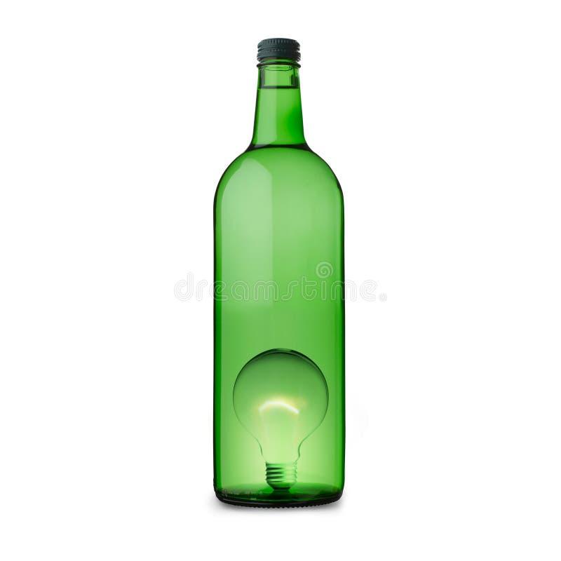 Tubo ligero de la idea en botella imágenes de archivo libres de regalías