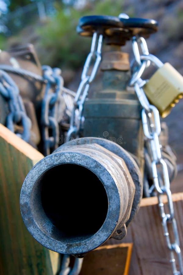 Tubo Locked immagini stock libere da diritti