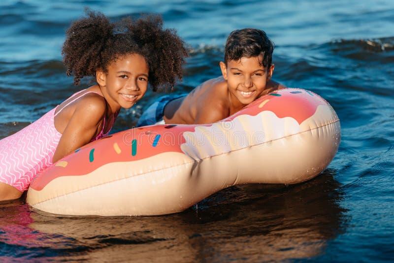 tubo nadador imagem de stock