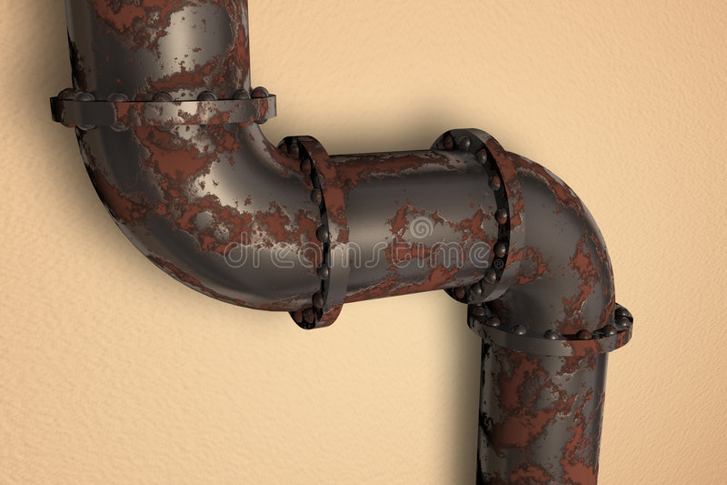 Tubo oxidado stock de ilustración
