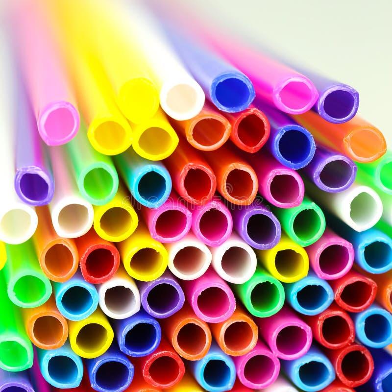 Tubo plástico colorido imagens de stock royalty free