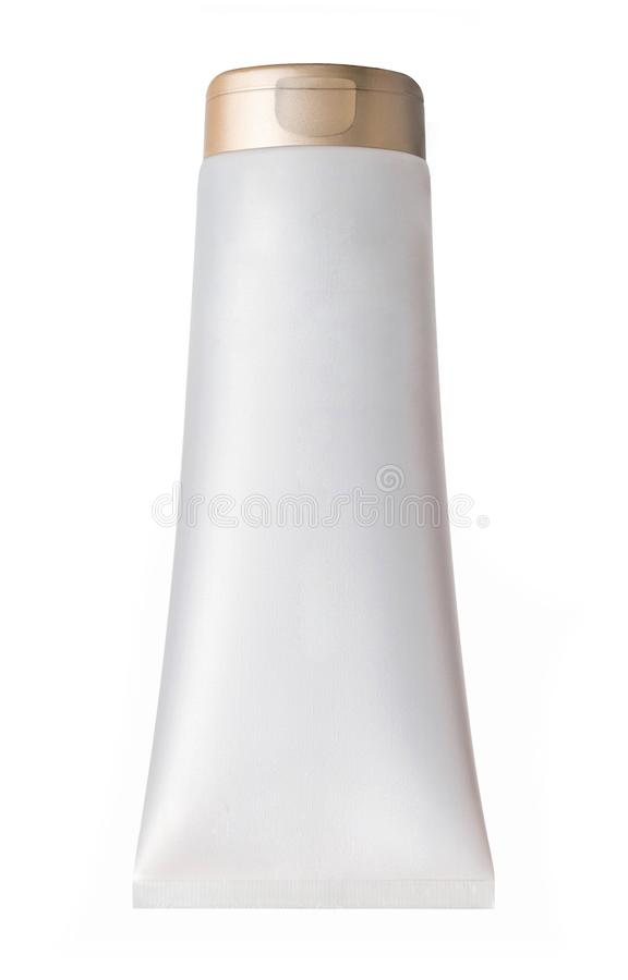 Tubo plástico isolado no branco imagem de stock