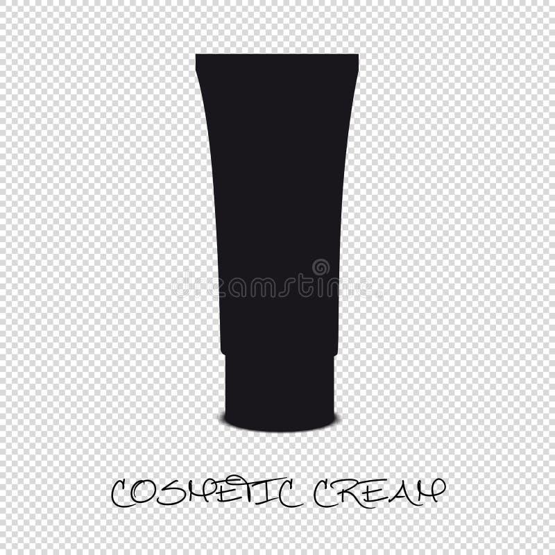 Tubo plástico poner crema cosmético - ejemplo del vector - aislado en fondo transparente libre illustration
