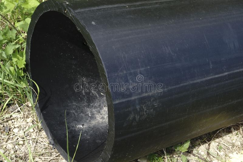 Tubo potable del almacenamiento del HDPE, tubería del HDPE fotografía de archivo