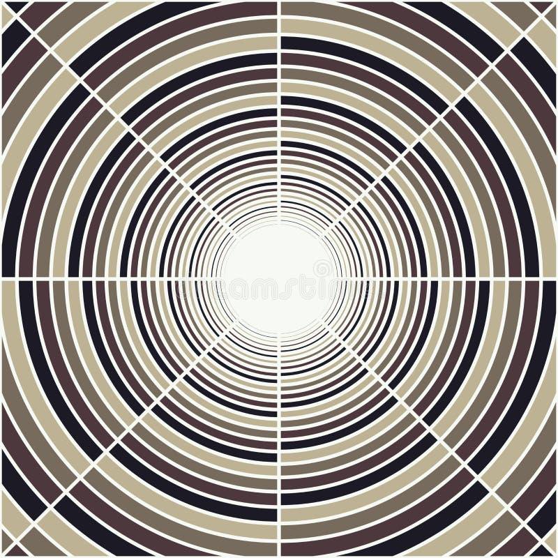 Tubo profundo abstracto, luz en el extremo del túnel libre illustration